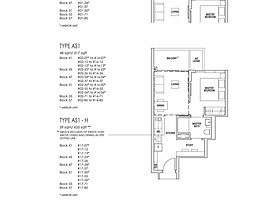 Type AS1-H - Riverfront Residences's floor plan
